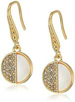 Laundry by Shelli Segal Mother of Pearl Pave Drop Earrings