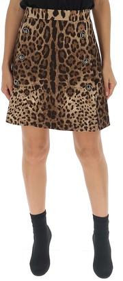 Dolce & Gabbana Animal Print Mini Skirt