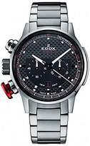 Edox Men's 10302 3M NIN2 Chronorally Analog Display Swiss Quartz Silver Watch