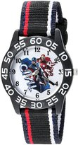 Marvel Boy's 'Civil War' Quartz Plastic and Nylon Automatic Watch, Color: (Model: W003118)