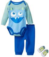 Vitamins Baby Monster Bodysuit, Pant & Sock Set (Baby Boys)