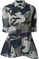 Neil Barrett camouflage print shirt - women - Cotton/Spandex/Elastane - XS