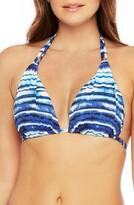 La Blanca Stripe Halter Bikini Top