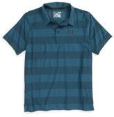 Under Armour 'Composite Stripe' HeatGear ® Polo (Little Boys & Big Boys)