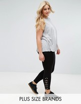 New Look Plus New Look Curve Lace Up Side Legging
