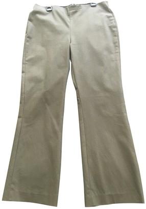 Theory Khaki Cotton Trousers