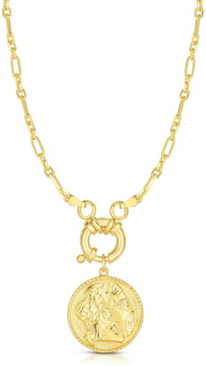 Sphera Milano 18K Gold Plated Sterling Silver Coin Pendant Necklace