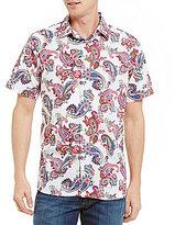 Daniel Cremieux Paisley Print Poplin Short-Sleeve Woven Shirt