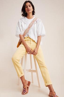 Pilcro And The Letterpress Pilcro High-Rise Slim Boyfriend Jeans By in Yellow Size 26
