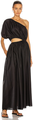 Matteau One Shoulder Cocoon Dress in Black | FWRD