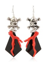 Chicchettosa - Death Coral Metal Pendant Earrings