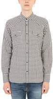 Mauro Grifoni Blue And White Cotton Checked Shirt