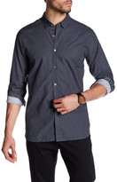 Ted Baker Long Sleeve Geometric Trim Fit Shirt