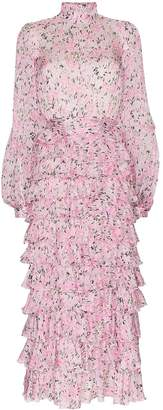 Giambattista Valli tiered ruffled floral-print silk maxi dress