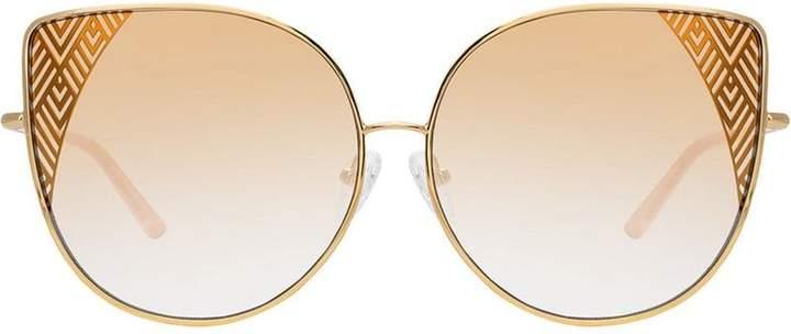 8f6da5619 Linda Farrow Gold Women's Sunglasses - ShopStyle