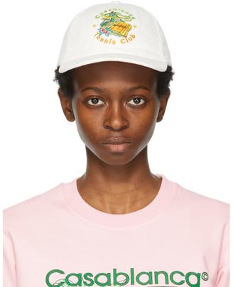 Casablanca Off-White Tennis Club Cap