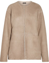 J.Crew Collection Luna Shearling Coat - Mushroom
