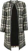Edward Achour Paris Black-white-grey Coat