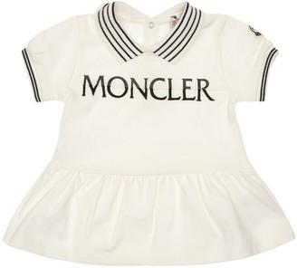 Moncler Cotton Pique Dress & Diaper Cover