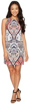 London Times Petite Star Paisley Sleeveless Shift