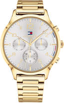 Tommy Hilfiger Women's Emmy Gold-Tone Metal Bracelet Watch 38mm, Created for Macy's