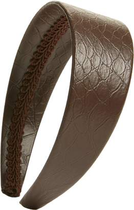 Halogen x Atlantic-Pacific Croc Embossed Faux Leather Headband