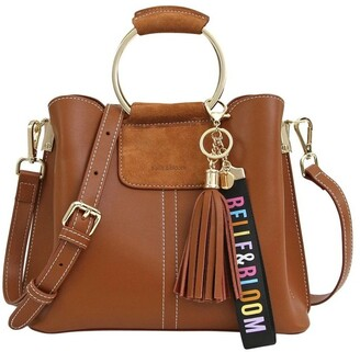Belle & Bloom TWI300BWN Twilight Brown Zip Top Crossbody Bag