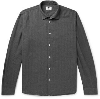 NN07 Alberto Herringbone Brushed Cotton-Flannel Shirt