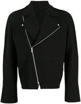 Issey Miyake knitted biker jacket - men - Cotton/Nylon - 1