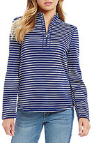 Tommy Bahama Le Petite Flip Side Half Zip Pullover