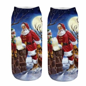 Kobay Women 2019 Sale Clearance Unisex Christmas Thickness Stockings Sleeping Socks Soft Cozy Cotton Knitted Sock for Women Girls Xmas Gift Indoor