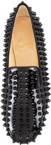 Christian Louboutin Rolling Spikes Patent Smoking Slipper, Black