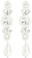 Thumbnail for your product : Simone Rocha Crystal drop earrings