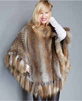 The Fur Vault Muskrat & Red Fox Fur Poncho