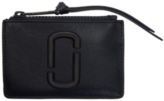 Marc Jacobs Black Small Snapshot Top Zip Card Holder