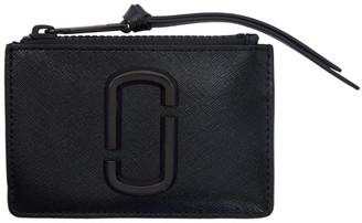 Marc Jacobs Black Small Snapshot Top Zip Card Holder