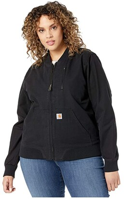 Carhartt Crawford Bomber Jacket (Black) Women's Coat