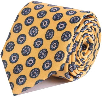 Double Two Cog Patterned Tie