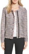 Women's Halogen Zip Detail Tweed Jacket