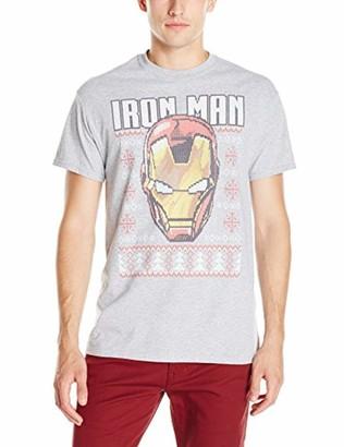 Marvel Big and Tall Men's Iron Man Ugly Christmas T-Shirt