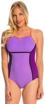 Speedo Perforated Thin Strap One Piece Swimsuit 8138793