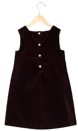 Papo d'Anjo Girls' Sleeveless Corduroy Dress