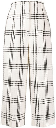MSGM Checked Cropped Trousers