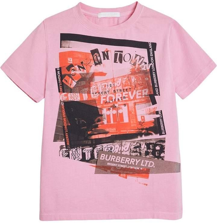 Burberry London Street Art Print Cotton T-shirt