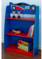Kid Kraft Red and Blue Race Car Bookshelf