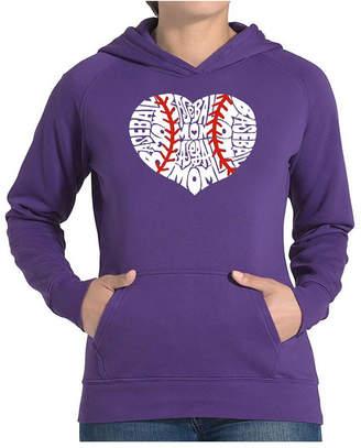 La Pop Art Women Word Art Hooded Sweatshirt -Baseball Mom