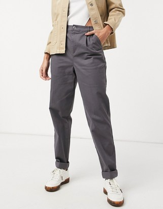 ASOS DESIGN chino pants in charcoal