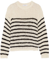 IRO Lolita Striped Open-knit Cotton-blend Sweater - Off-white