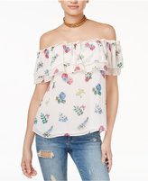 Endless Rose Floral-Print Off-The-Shoulder Top