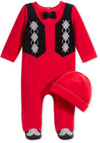 First Impressions Baby Boys' 2-Pc. Hat & Footed Argyle Coverall Set, Only at Macy's
